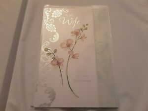 Wife wedding anniversary card - BNIP