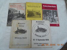 TRACTION AND STEAM RALLY PROGRAMMES X 5 (1975-1978)