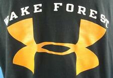 WAKE FOREST DEAMON DEACONS Black T-Shirt (L) UNDER ARMOUR