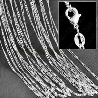 "Simple 925 Sterling Silver 2MM Chain Necklace DIY Jewelry 16"" 20"" 24"" 28"" 30"""