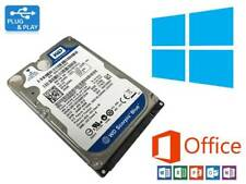 1TB HDD SATA 2.5 Laptop Hard Drive Pre installed with Windows 10 & Office 2016