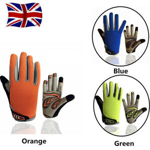 Kids Bike Gloves Full Finger Motorcycle BicycleRacing Cycling BMX Padded Pair UK