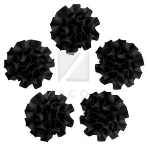 5pcs Satin Ribbon Flower Carnation Craft Wedding Baby Shower Appliques BWRN32