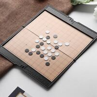 Mini WeiQi Go Game Set Magnetic Pieces Folding with Board 16X16cm 13 Lines Plast