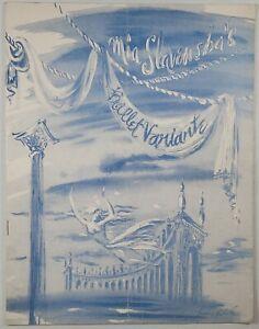 C.1949 Souvenir programme for Mia Slavenska's 'Ballet Variante'.