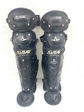 "All-Star LG79PS 22.5"" Youth Catcher  Leg Shin Guards Navy Blue Baseball Softball"