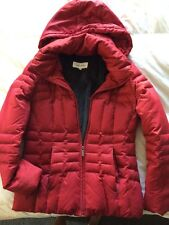 Calvin Klein Women's Parka Red Sz S Small