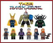 MARVEL - THOR RAGNAROK x 9 mini figure SET - Hulk,Hela,sakaarian - fits lego