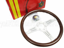 MOMO Classic Steering Wheel - Grand Prix (350mm/Mahogany/Brushed Silver Spoke)