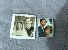 2 Royal Stamps Wedding of Queen & Prince Philip/ Prince Charles & Lady Diana