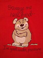 Vintage Shoebox Greetings Hallmark Teddy Bear Hug Me Pressure Cute T Shirt M