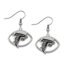 Atlanta Falcons Round Football Earrings Ear Rings Free Tracking New