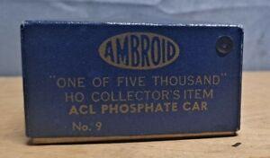 Vintage Ambroid 1 of 5000 HO Scale ACL PHOSPHATE HOPPER CAR KIT No. 9 - UNBUILT