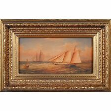 FTN030-SC002-2, Niagara Furniture, Racing Ships Oil Painting, Oil Painting