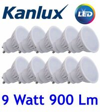 x10 TEDI LED GU10 9W High Lumen 6000K COOL White Lamp 9 Watt spotlight downlight