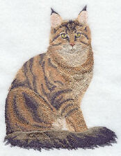 Maine Coon Cat Set Of 2 Bath Hand Towels Embroidered By Laura
