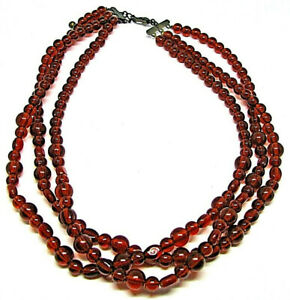 Brown Bead Necklace Summer Collar Women Fashion Jewelry Charm Ethnic Chaplet Art