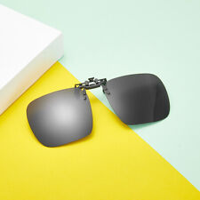 Men UV400 Polarized Clip-On Sunglasses Metal Frame Eyewear Driving Glasses