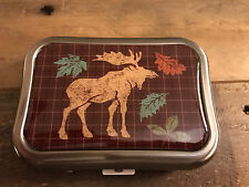 Contact Lens Case-Metal with Compact Mirror and Moose Fall Design Bausch Case