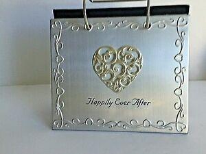 "Malden International Designs ""Happily Ever After"" Silver Flip Photo 4x6"" Album"