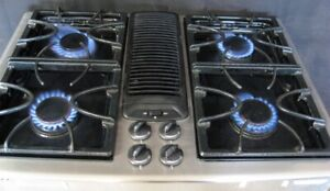 Jenn-Air natural gas stainless steel downdraft cooktop grill/griddle JGP979SEFS