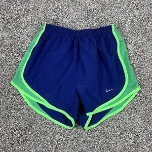 Nike Dri-Fit Women's Shorts Active Wear Built In Underwear Blue + Green S Small
