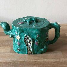 Antique Chinese Yixing Teapot Prunus Tree Design Signed