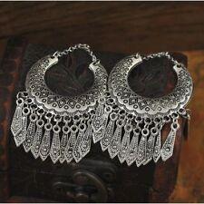 Hup Bohemian Women Fine Jewelry Vintage Ethnic Gypsy Carven Drop Boho Earrings