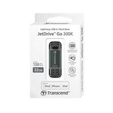 Transcend 32GB JetDrive Go 300 Apple Lightning to USB MFI Pen Drive Grey