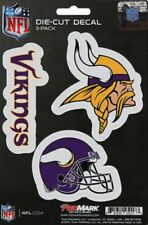 Minnesota Vikings Decals NFL ProMark Die-Cut Stickers 3 Pack