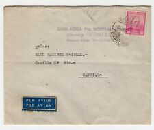 CHILE 1937 RARE airmail Cover Puerto Montt to Magallanes Sikorsky first flight