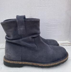 Birkenstock Luton Slouch Boots w/ side Zip-Size 38EU/8US Slate Grey