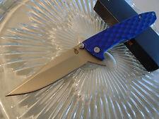 "Gerber One-Flip Blue Flipper Open Tactical Pocket Knife 5Cr15MoV 7.9"" 1910117A"