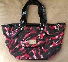 *EUC* Betsey Johnson *Betseyville* Pink & Black Animal Print Tote Shoulder Bag*