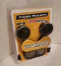 NEW Power Acoustik NB-18 200 Watt Max Niobium Micro Dome Super Tweeters