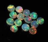 7 MM NATURAL AAA ETHIOPIAN FIRE OPAL CABOCHON'S CALIBRATED PLAY OF COLOR