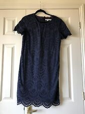 Phase Eight Annabeth Floral Brodé Shift Robe Bleu Marine Taille UK16 RRP160