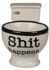 Shi* Happens Novelty Funny Toilet 3D Handle Ceramic Coffee Mug Cup New & Boxed *