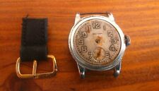 VINTAGE WALTHAM SIZE WWII MILITARY WRISTWATCH for restore or parts