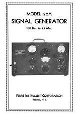 Ferris model 22A R.F. Signal Generator Manual