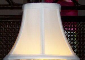 Chandelier / Candelabra Lamp Shade - Eggshell - Fabric - Please See Measurements