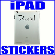 2 X PERSONALISED STICKERS FOR iPAD iPAD2 KINDLE GALAXY NOOK LAPTOP NEW GIFT IDEA