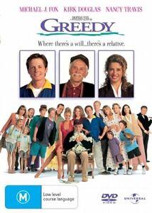 Greedy DVD - Michael J Fox (Pal, 2006) VGC, RARE - FREE POST