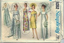 Simplicity Sewing Pattern Wedding Dress Bridesmaid Prom #6352 Junior Size 11