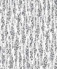 BLACK  WHITE GREY MOSIAC EFFECT TEXTURED QUALITY FEATURE WALLPAPER 863123 RASCH