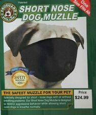 DOG MUZZLE for flat face faced short snout snouted PUG