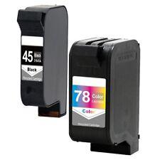 2PK HP 45 78 Ink Cartridge For Deskjet 6122 6127 930C 950C 960C 970 Cse 990 Cxi