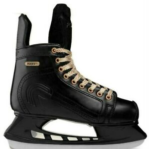 Roces Men's Slapshot Glamour Vintage Hockey Look Figure Ice Skates Black
