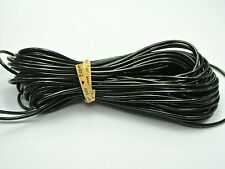 10 Meter Black 2mm Plastic Hollow Rubber Tubing Cord Cover Memory Wire