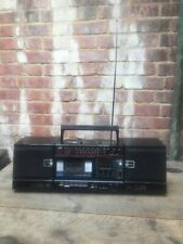 Vintage JVC PC-25 Ghetto Blaster Boom Box Cassette Radio Detachable Speakers 80s